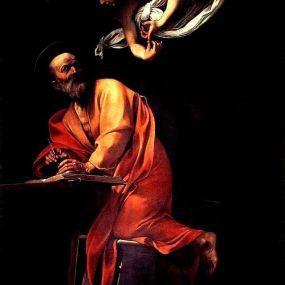 Caravaggio - San Matteo e l' angelo